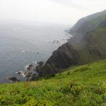 礼文島崖右側