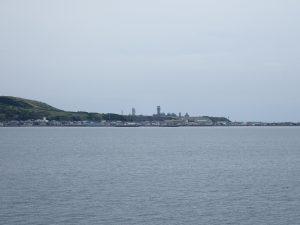 稚内 海からの遠景