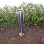 利尻島 8合目の標識