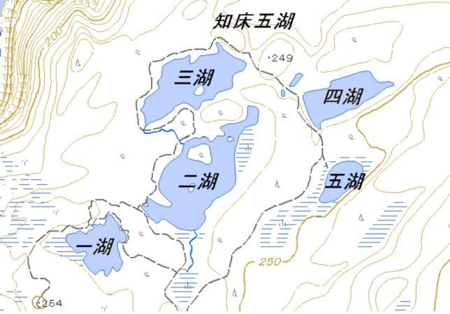 知床五湖地図