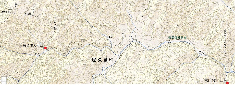 縄文杉全コース地図