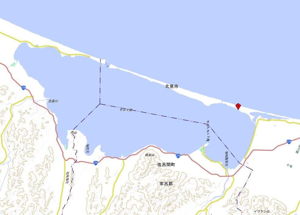 サロマ湖(国土地理院地図閲覧サービス)
