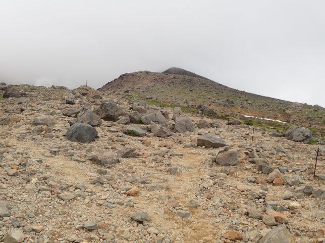 七合目に向かう辺りの登山道