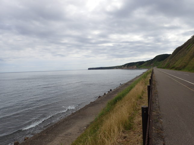 能取岬に向かう道