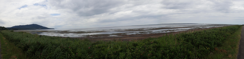 キムアネップ岬からサロマ湖全景