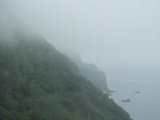 展望台から見た雄冬岬