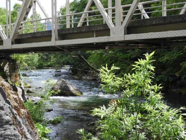 石狩川上流方向