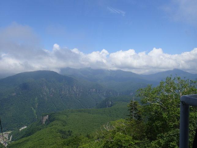 ロープウエイ黒岳駅からの眺望