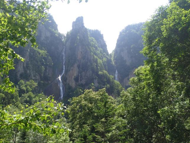 双瀑台から銀河・流星の滝