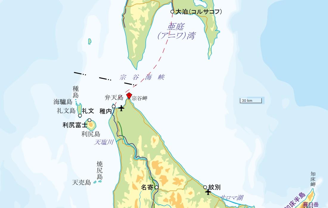 宗谷岬(国土地理院地図閲覧サービスより)