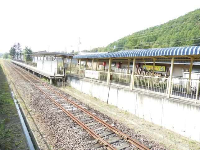 夕張駅ホーム