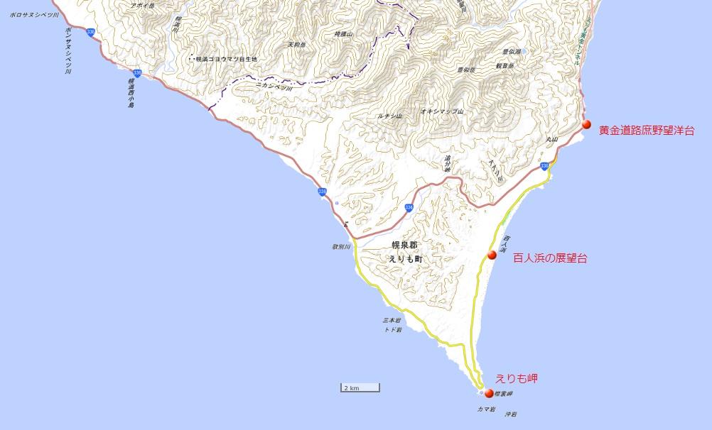 百人浜地図(国土地理院地図閲覧サービスより)