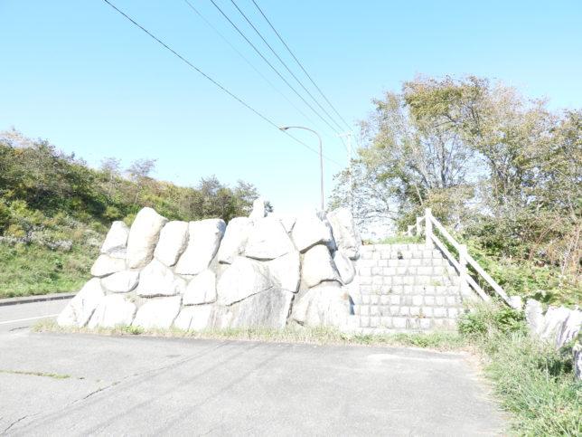 黄金道路(広尾側)石垣
