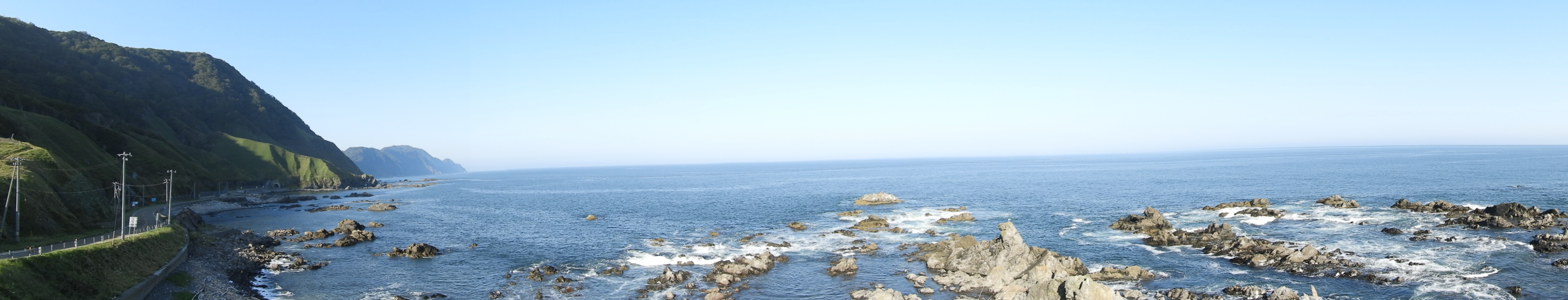 黄金道路(襟裳岬側)から広尾方面の景観