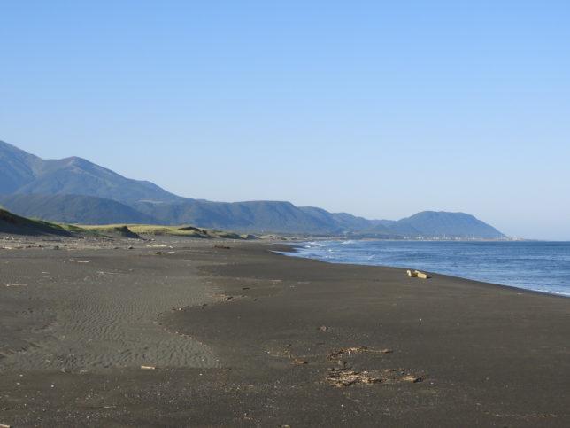 百人浜の砂浜(庶野側)