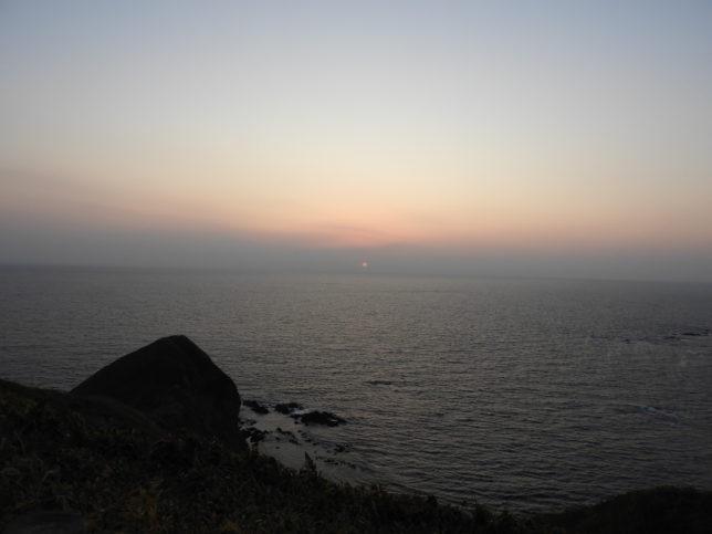 えりも岬の日没