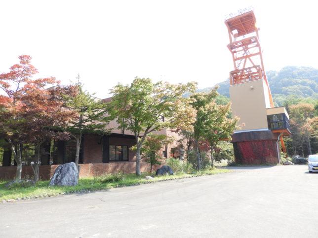 石炭博物館横の立坑櫓