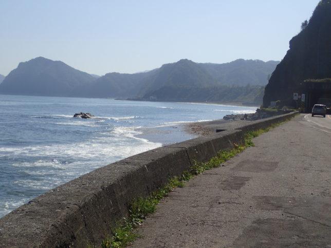 フンベの滝からの海の景観