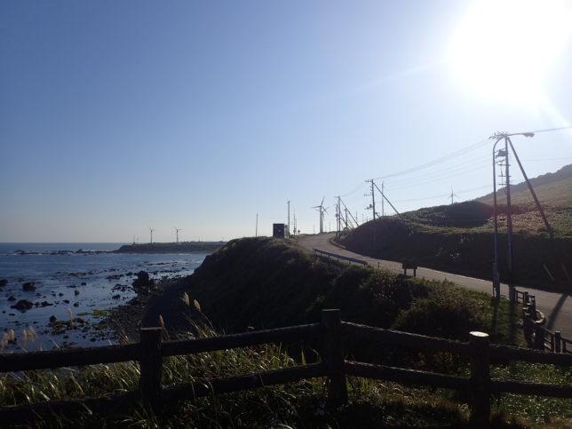 黄金道路(襟裳岬側)から襟裳岬方面