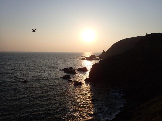 えりも岬の日没近く