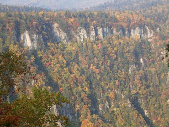 滝見台から見える岩壁