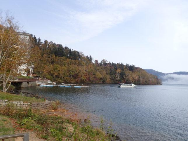 然別湖左岸