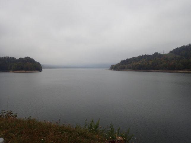 糠平湖展望台からの景観