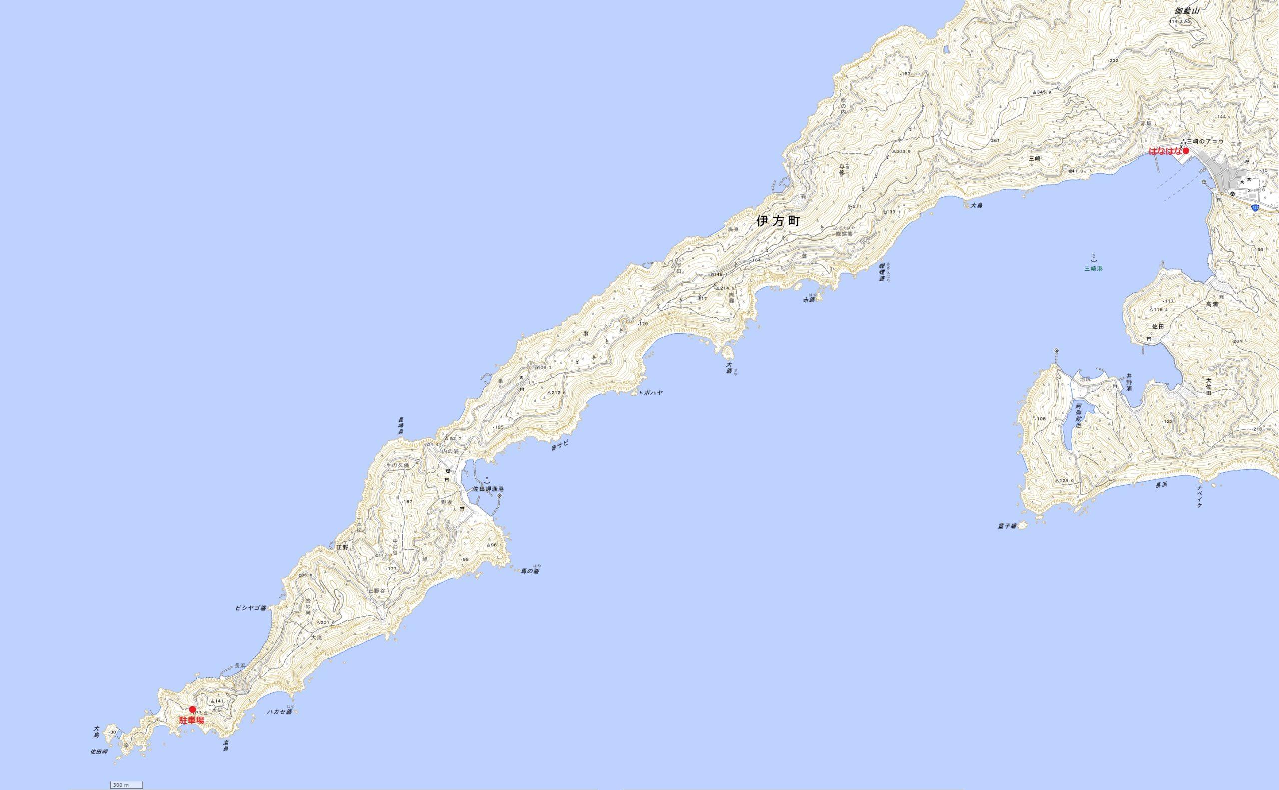 佐田岬地図