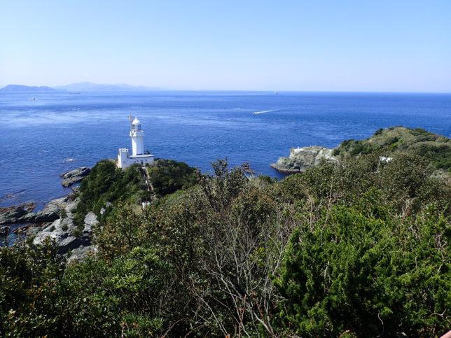 椿山展望台から