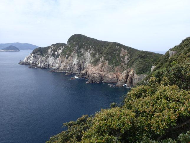 観音岩周辺から柏島方面
