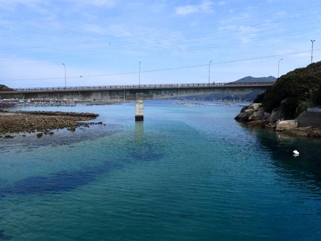 柏島大橋と海