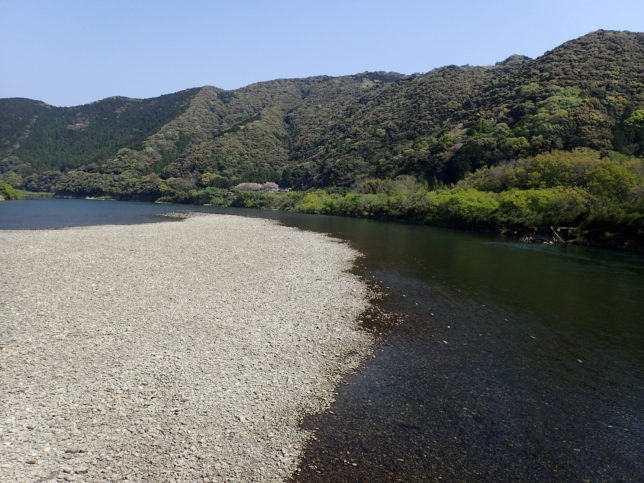 佐田沈下橋からの景観