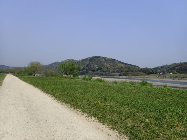 河川敷の道路