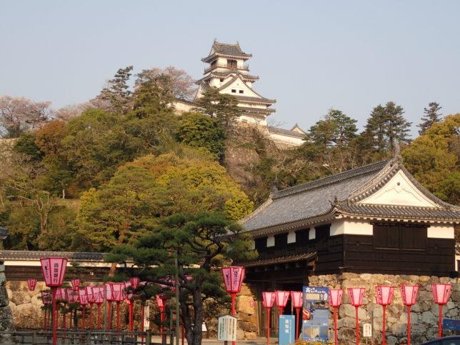 高知城(追手筋より)