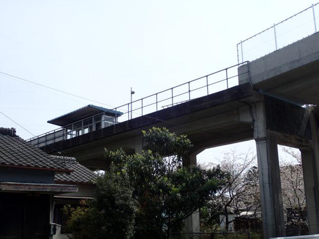 甲浦駅高架ホーム