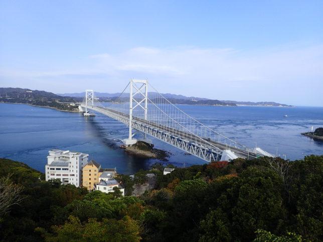 鳴門山展望台から大鳴門橋